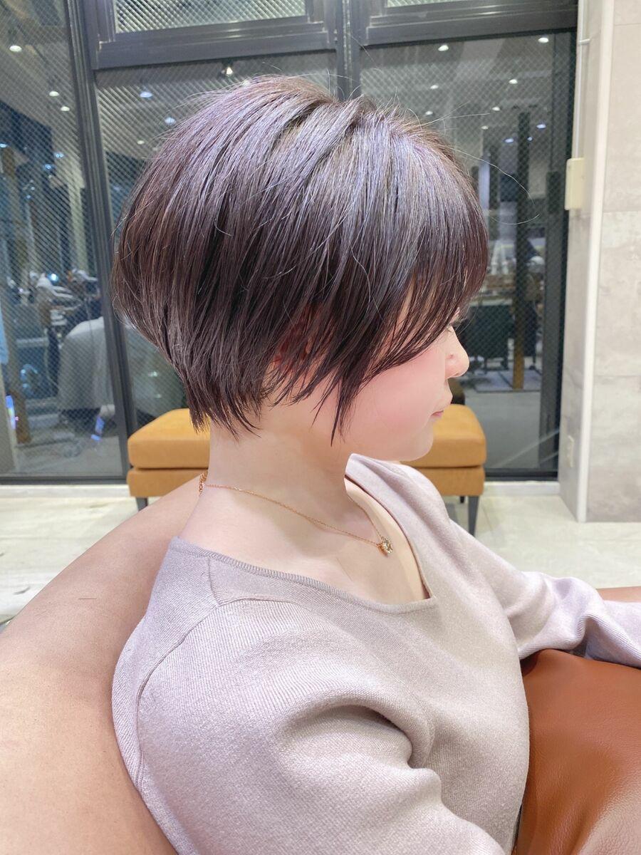 前髪ありショートボブパーマ20代30代40代