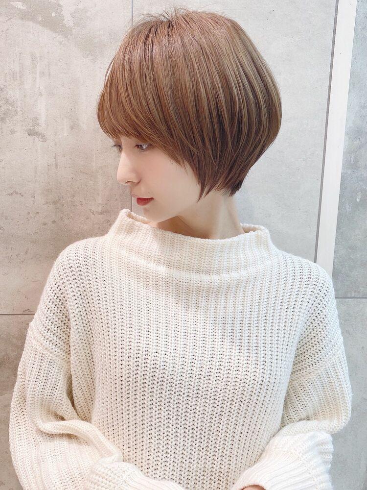 前髪ありショートボブ20代30代