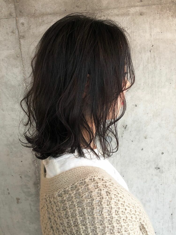 ACE 暗髪グレーアッシュ×透明感抜群!透け感ミディアム 横浜駅から徒歩5分