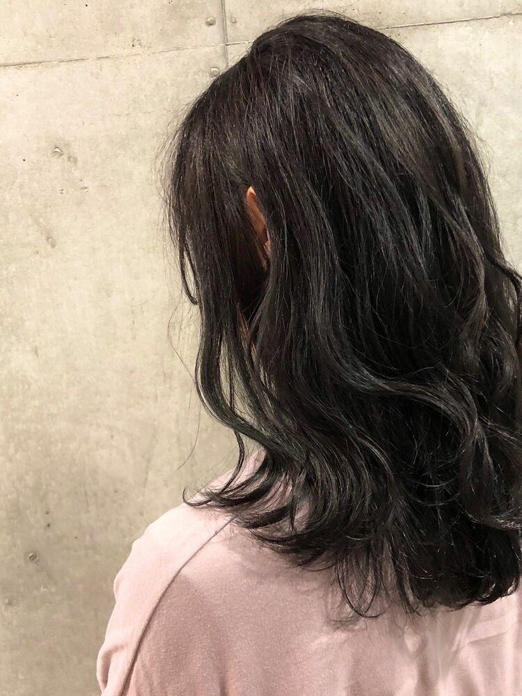 ACE 大人可愛い暗髪グレージュ×ゆるふわスタイル 横浜駅から徒歩5分