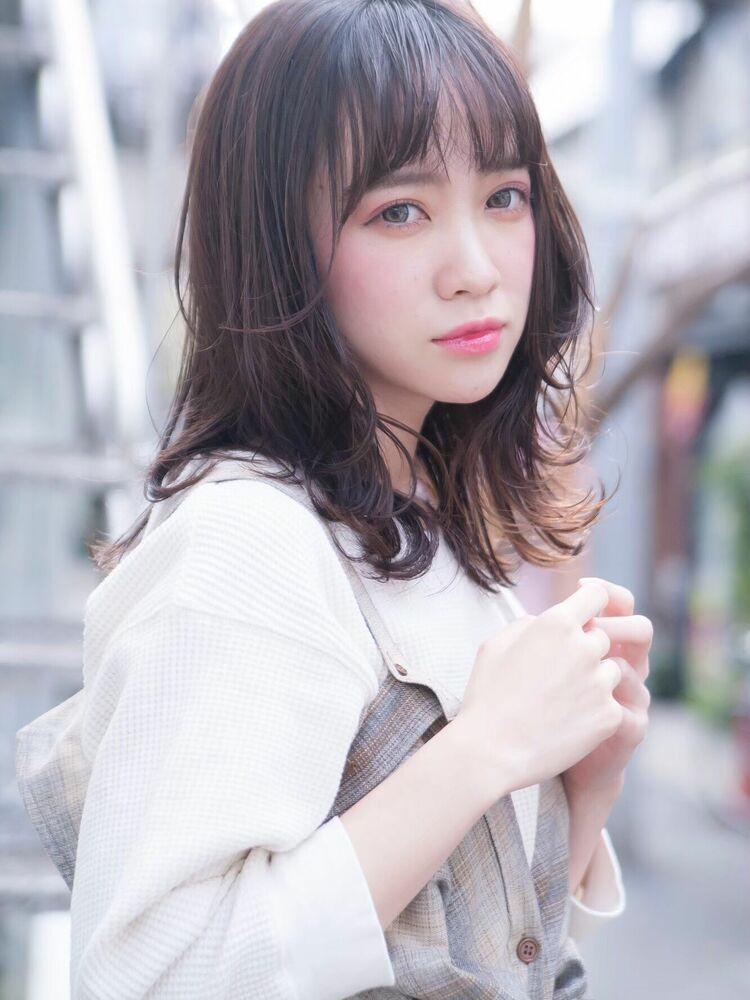 ACE 透明感たっぷり暗髪カラー♡ゆるふわミディアム 横浜駅から徒歩5分