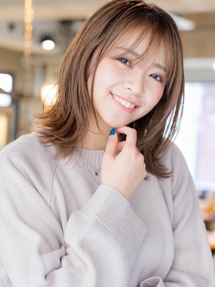 ACE 暗髪ナチュラルブラウン×大人可愛い外ハネ♡ 横浜駅から徒歩5分
