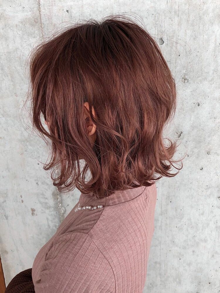 ACE 最先端で可愛いピンクベージュ♡大人可愛いショートボブ 横浜駅から徒歩5分