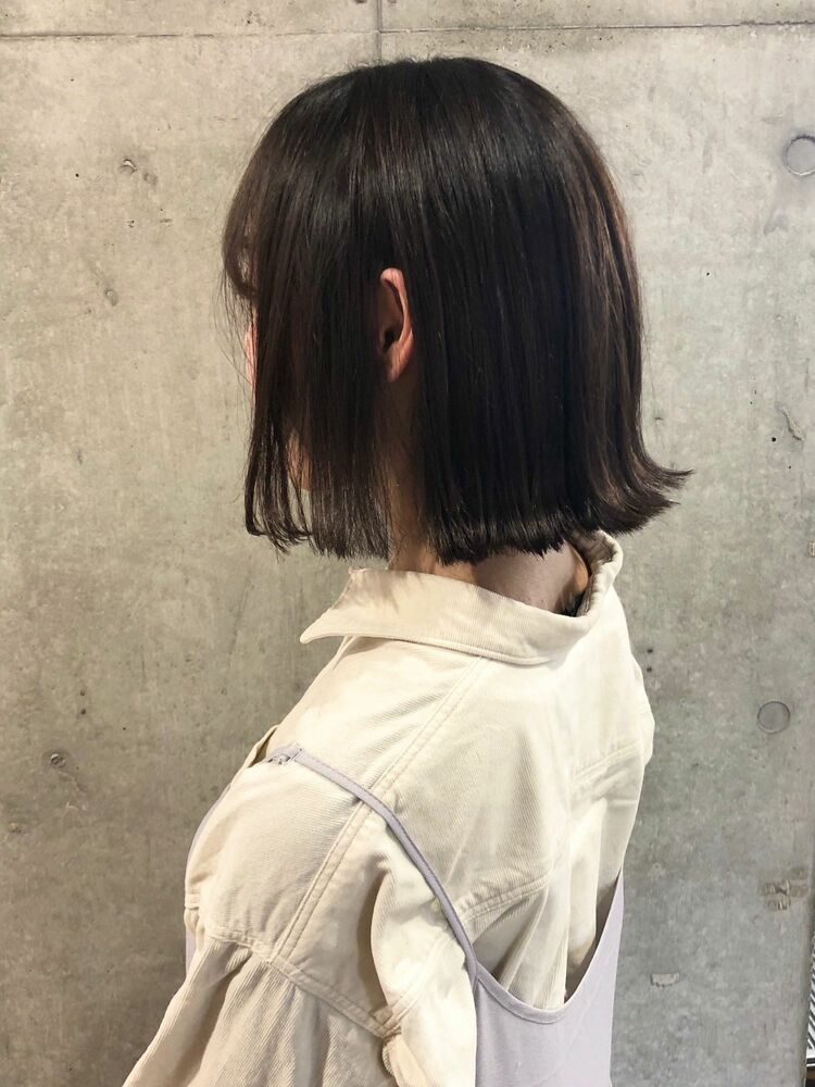ACE ミニボブ×暗髪シアグレージュ 横浜駅から徒歩5分