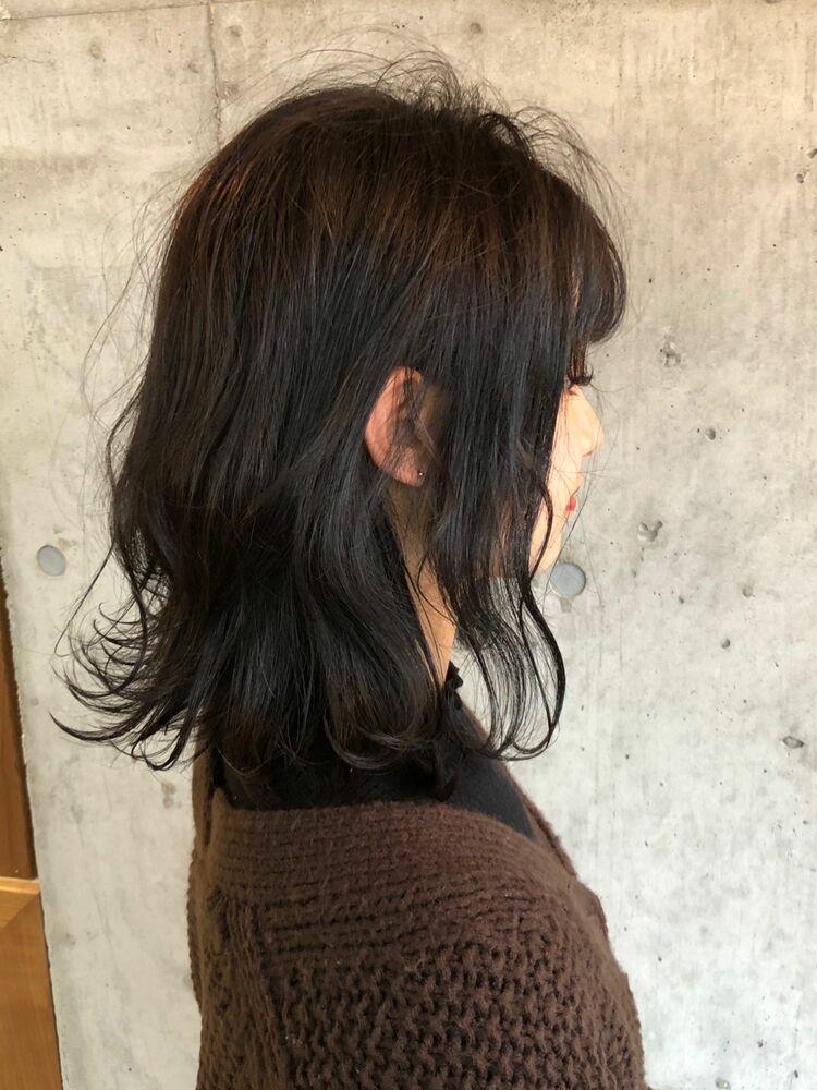 大人可愛いミディアムボブ♡ふんわりカール 横浜駅から徒歩5分