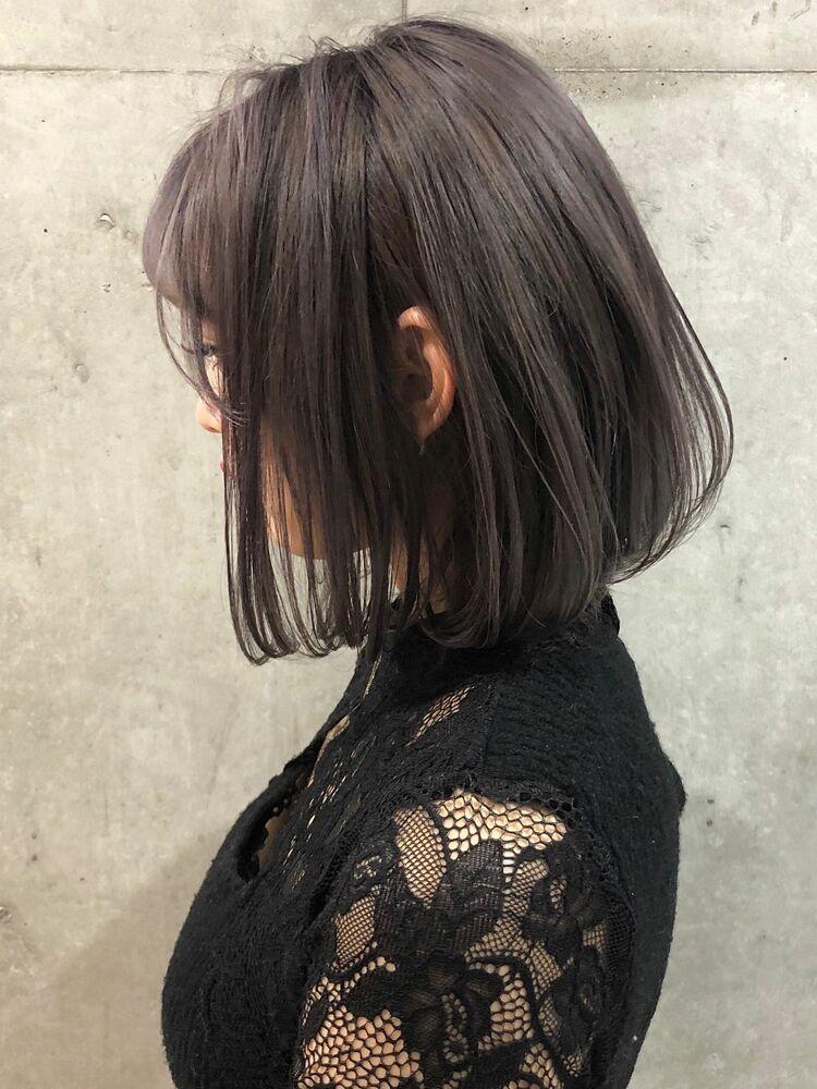 大人可愛い艶髪ボブ×透明感ラベンダーグレージュ 横浜駅徒歩5分