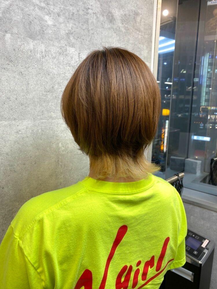 ウルフショート 前髪インナーカラー