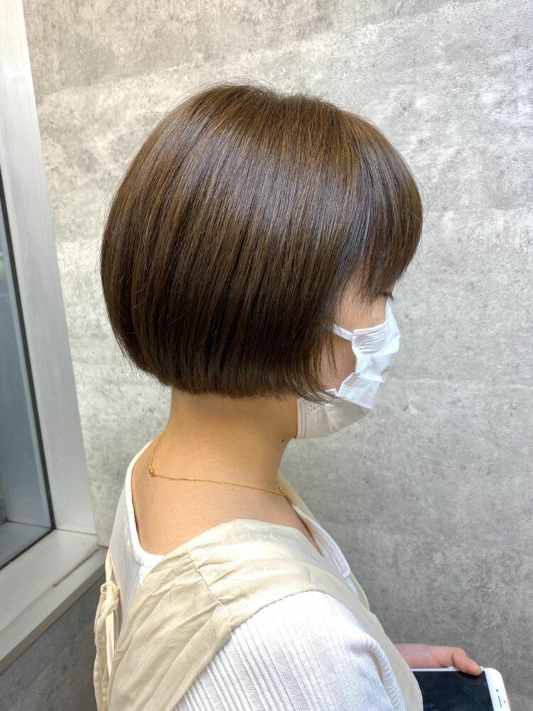 マニッシュショート 前髪インナーカラー