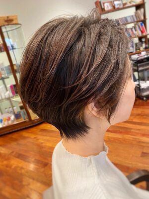 絶壁解消☆ふんわり透け感ショートヘア