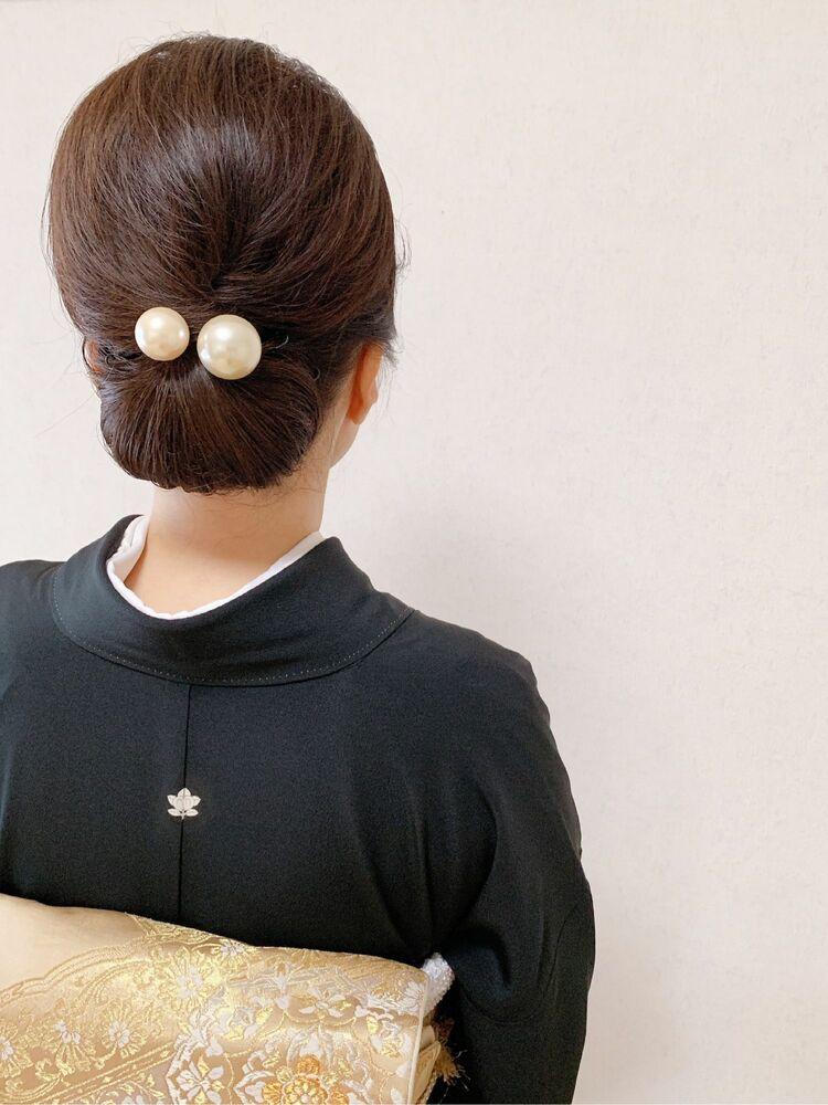 黒留袖ヘア