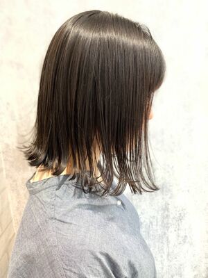 Zina/福井崇洋/ミディアムボブ/グレージュ