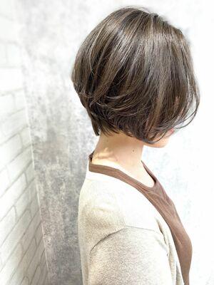 Zina/福井崇洋/ハンサムボブ/ミントグレージュ