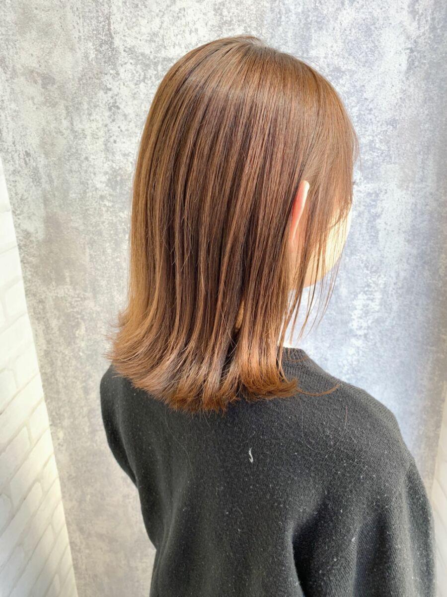 Zina/福井崇洋/外ハネミディ/ベージュカラー♪