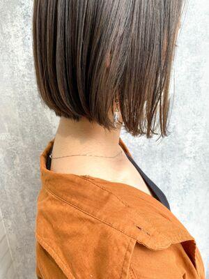 Zina/福井崇洋/ミニボブ/オリーブグレージュ