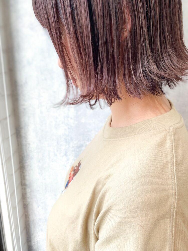 Zina/福井崇洋/外ハネボブ/ピンクアッシュ