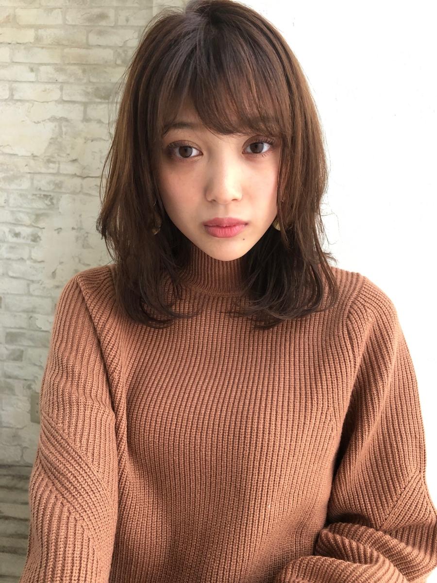 ミディアムパーマ セミディ 新宿 joemi by unami