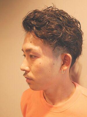 メンズパーマ モテ髪 ツイストスパイラル 横浜