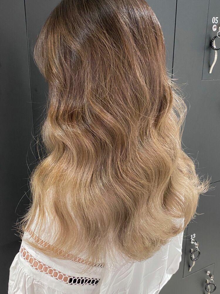 韓国グラデーションヘア