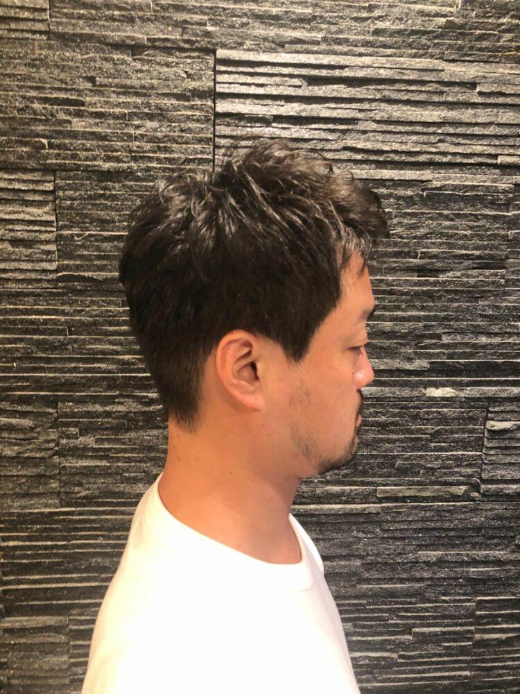ショート×アップバング×パーマ ヒロ銀座/表参道/原宿/理容室