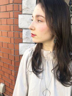 25歳〜30代お勧め、ロング×前髪なし×アンニュイパーマ