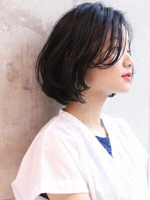25歳〜30代お勧め!!前髪なし×ショートボブ