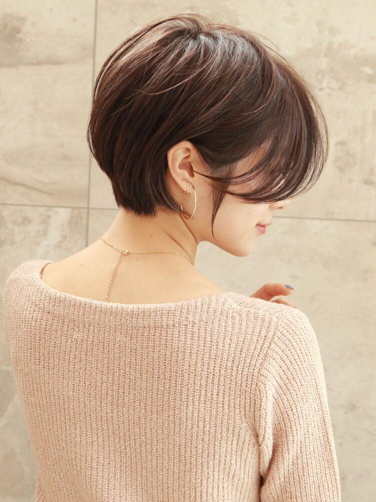 25歳〜30代大人前髪なし×丸みショート