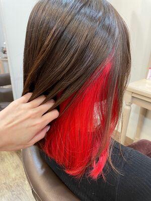RED/インナーカラー