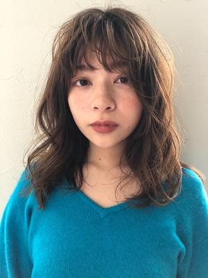 joemi  新宿 ミディアムレイヤー 大人カジュアルパーマ