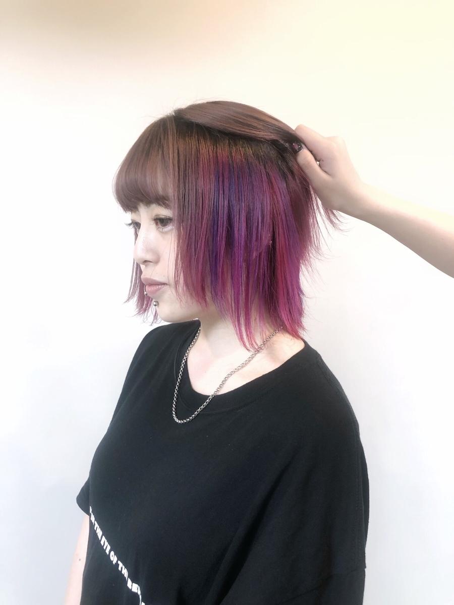 amond.表参道7分/外苑前5分派手髪カラー人気⚫︎インスタID:yukariino1107
