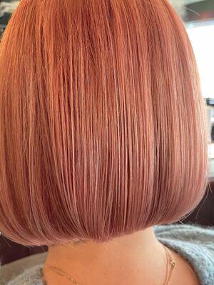 ハイトーンピンクcolor × ミニボブ