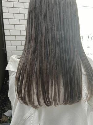 つやつや髪質改善 × 透明感color × ぷつっとcut