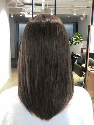 髪質改善ヘアエステ 艶感柔らかベージュ