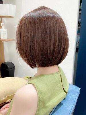 クセ髪質改善ストレートとCカーブカットでハンドブローでキマる