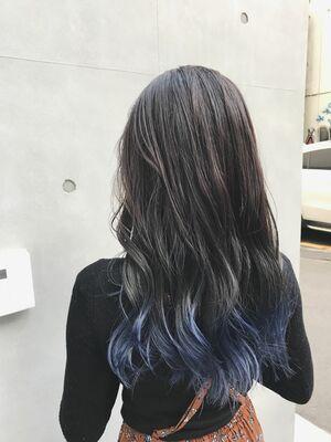 allys hair aoyama 和嶋信和 裾ダブルカラー☆インスタ@allys_waji