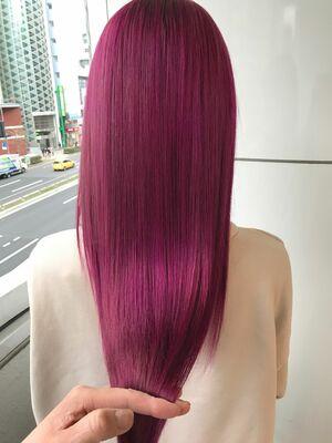 allys hair aoyama 和嶋信和 オルチャンピンクカラー☆インスタ@allys_waji