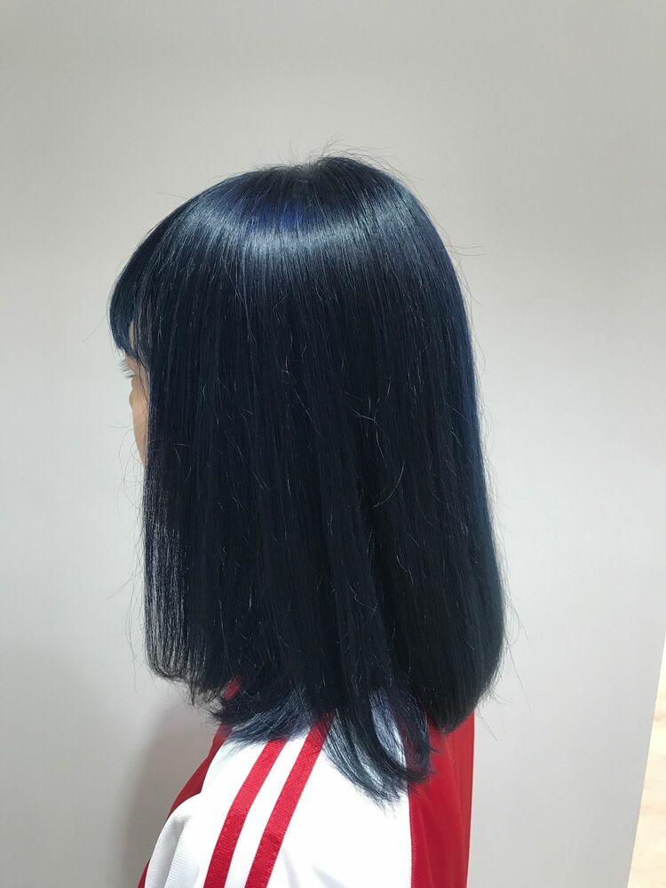 allys hair aoyama 和嶋信和 コリアンブルー☆インスタ@allys_waji