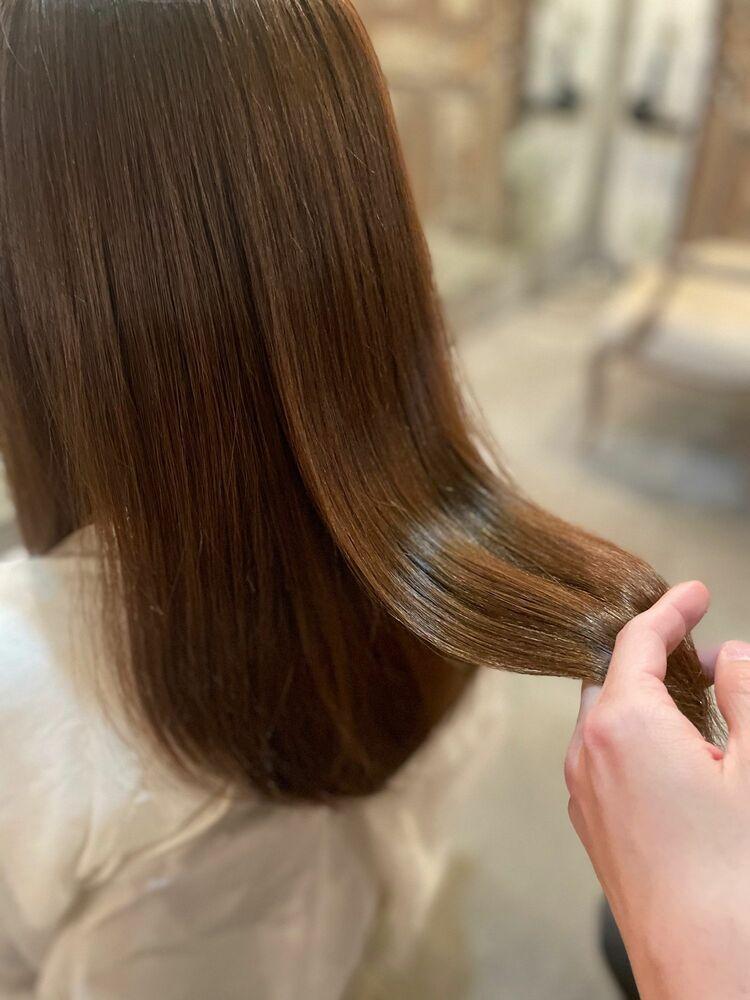 髪質改善×ベージュカラー