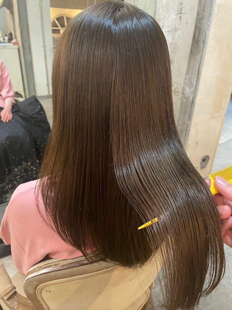 髪質改善トリートメント×グレージュカラー