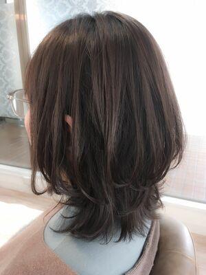 ハイレイヤー×ダースアッシュ☆平日限定☆カット+プリンセスティアラカラー¥7700