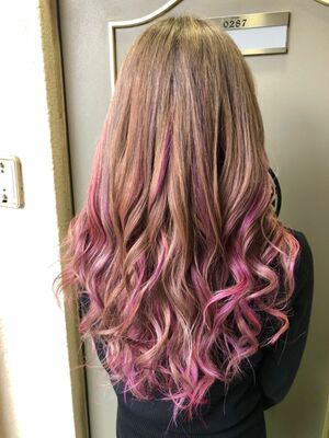 ハイトーンベースにピンクとパープルを入れてみましたー