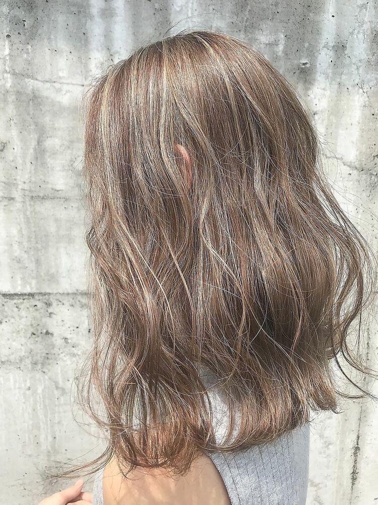 白髪カバー☆ハイライトカラー☆白髪が目立たないヘア☆白髪隠し