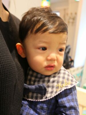 1歳カット。男の子ヘア。