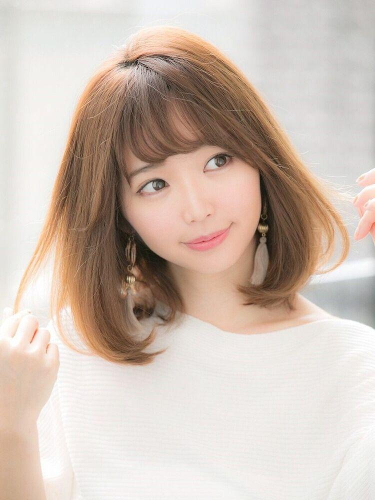 「Euphoria銀座グランデ 担当 金沢」大人かわいい小顔ミディアムボブ♪