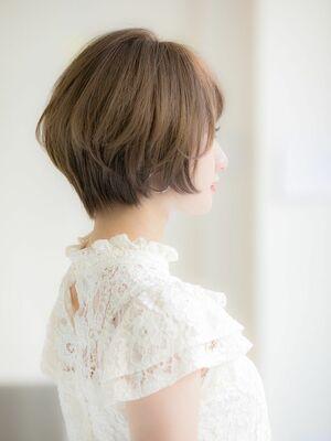 「Euphoria銀座グランデ 担当 金沢」美フォルム大人ショートボブ♪