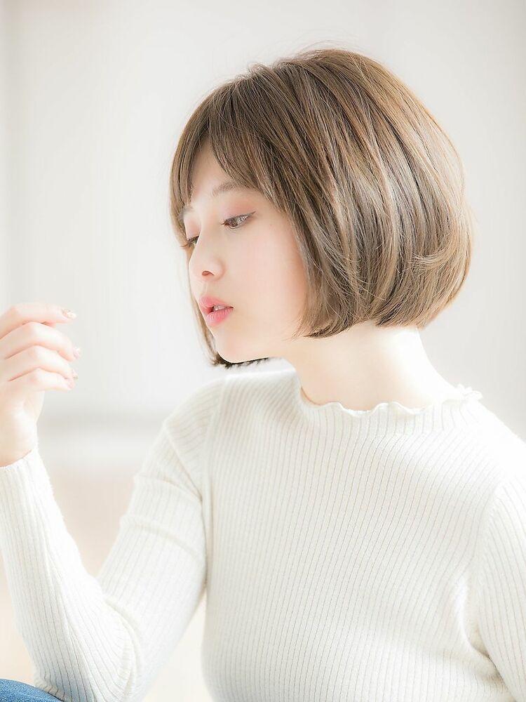 「Euphoria銀座グランデ 担当 金沢」柔らかナチュラル小顔ショートボブ♪