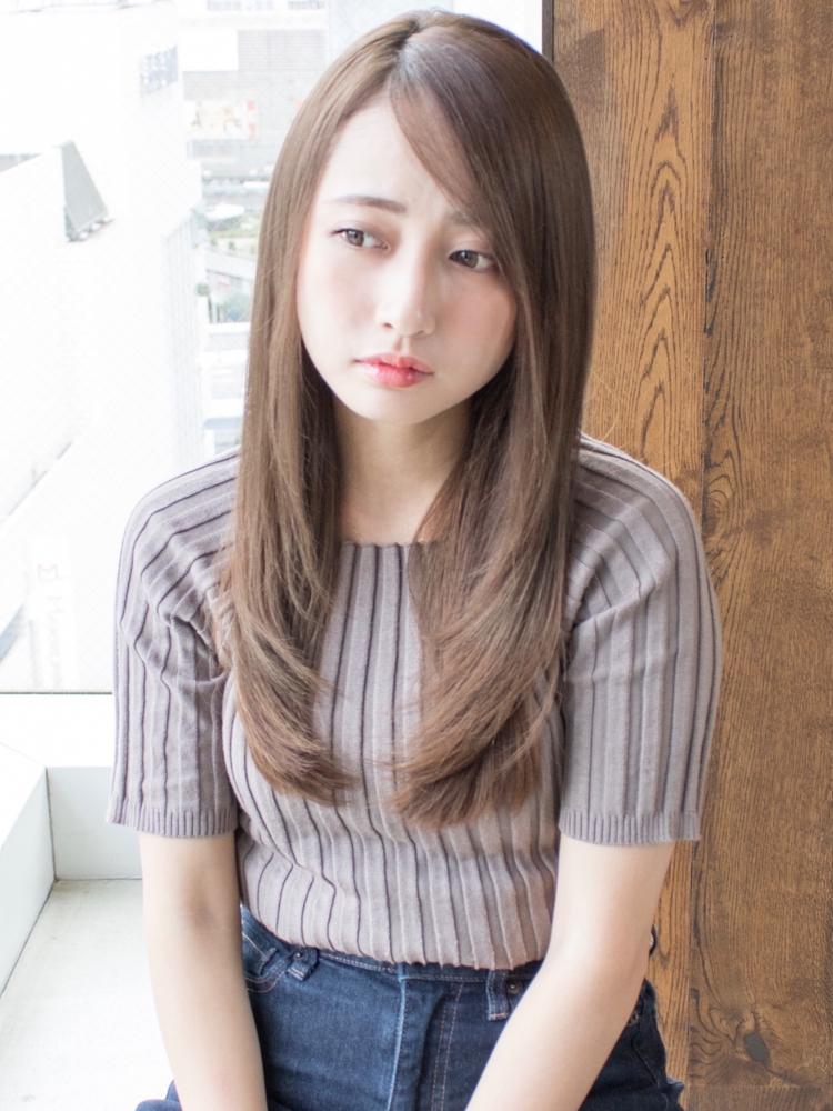 AFLOAT明日香の安室奈美恵さん風フェザーロングストレート