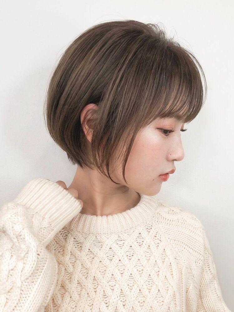 ☆耳掛け丸みショートボブ☆ABBEY川原大地