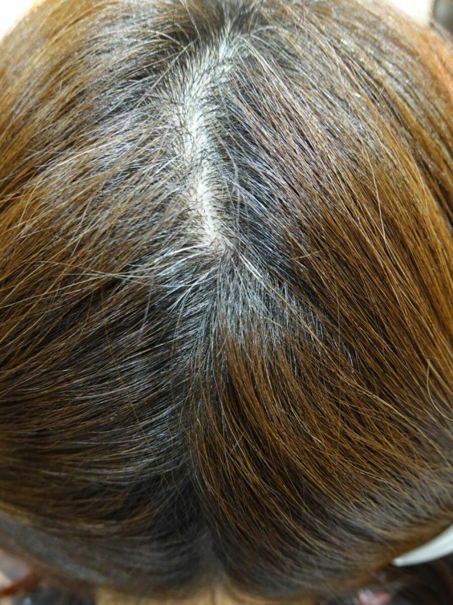 40代.50代白髪染め白髪染めを使わない白髪染め、ファションカラーで染める白髪染めです。