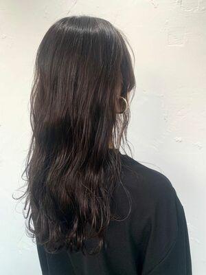 暗髪透明感カラー✨