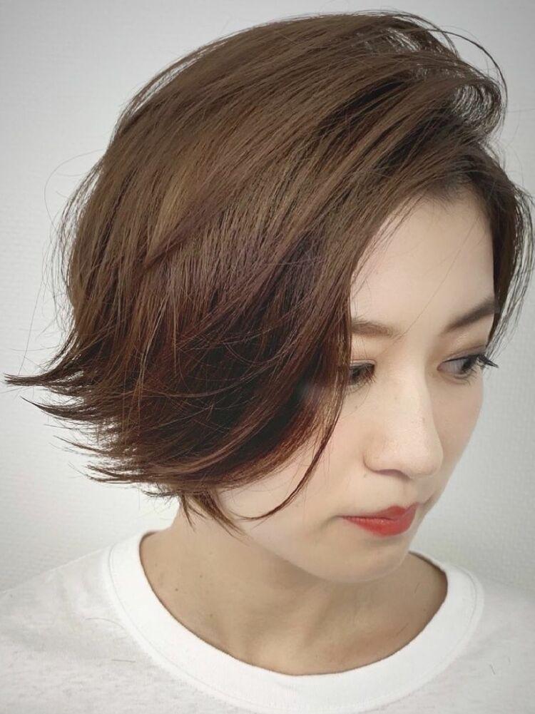 骨格補正カット+高発色カラー+髪質改善オージュアトリートメント
